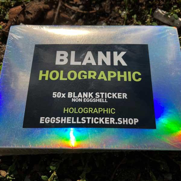 Blanko-Stickerpack auf irisierender Non-Eggshell-Folie