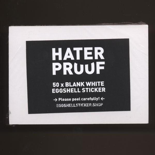 Blanko-Stickerpack auf weißer Eggshell-Folie