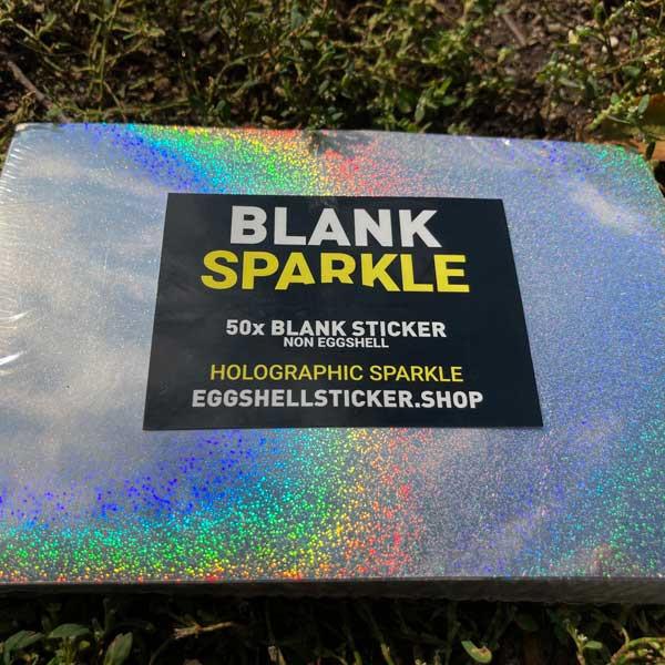 XL-Blanko-Stickerpack auf Sparkle Non-Eggshell-Folie