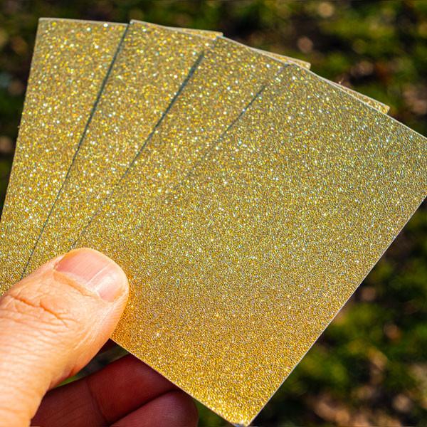 Blank sticker pack on glitter foil