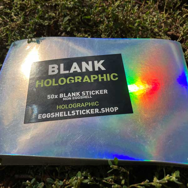 XL Blank sticker pack on Holographic Non-Eggshell-foil